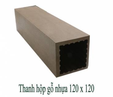 Thanh hộp gỗ nhựa 120x120