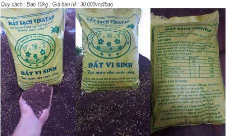 Đất trồng cây Vinatap giầu dinh dưỡng