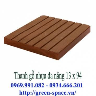Thanh gỗ nhựa đa năng 13 x 94