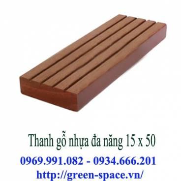 Thanh gỗ nhựa đa năng 15 x 50