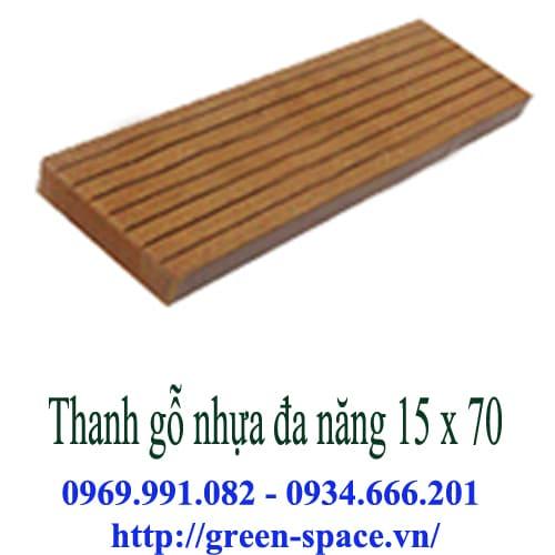 Thanh gỗ nhựa đa năng 15 x 70