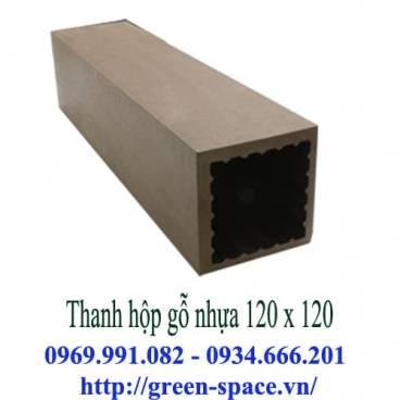 Thanh hộp gỗ nhựa 120 x 120