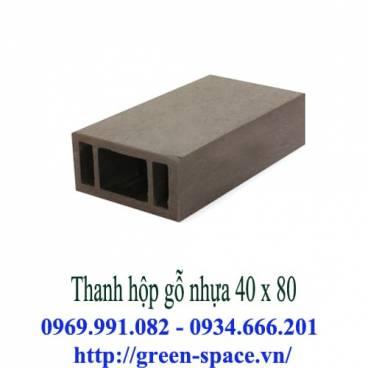 Thanh hộp gỗ nhựa 40 x 80
