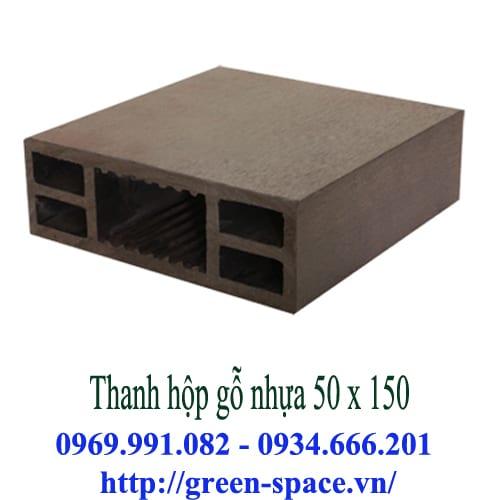 Thanh hộp gỗ nhựa 50 x 150