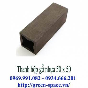 Thanh hộp gỗ nhựa 50 x 50