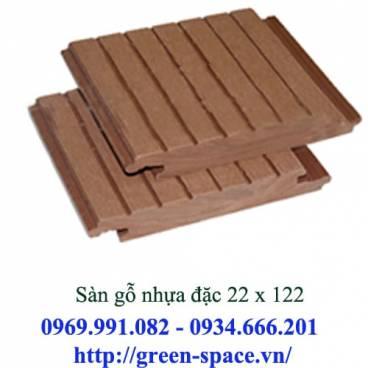 Sàn gỗ nhựa đặc 22 x 122