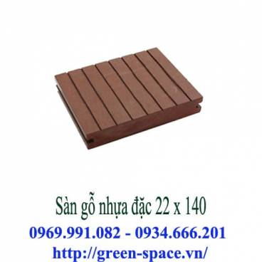 Sàn gỗ nhựa đặc 22 x 140