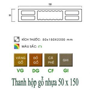 QC hộp gỗ nhựa 50x150
