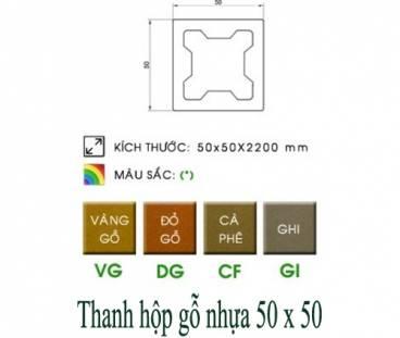 QC hộp gỗ nhựa 50x50