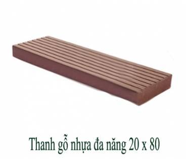 Thanh gỗ nhựa đa năng 20x80