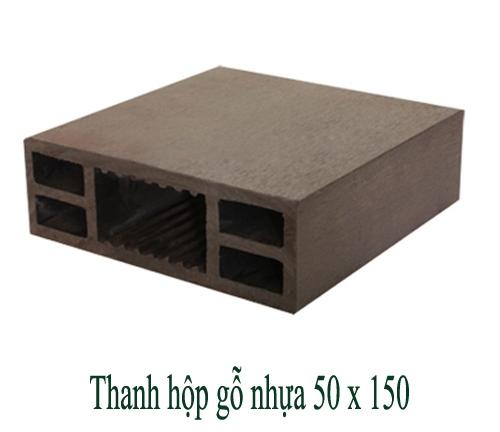 Thanh hộp gỗ nhựa 50x150