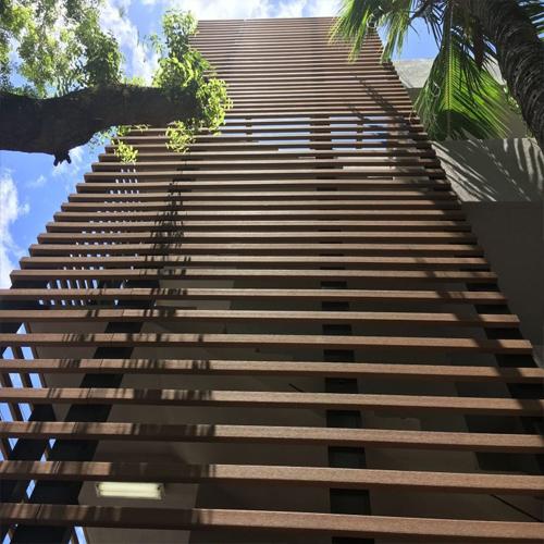 Lam chắn nắng gỗ nhựa ngoài trời