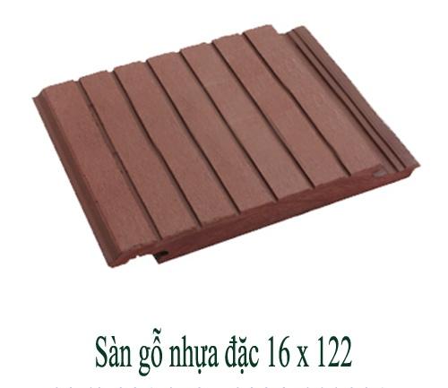Sàn gỗ nhựa đặc 16x122