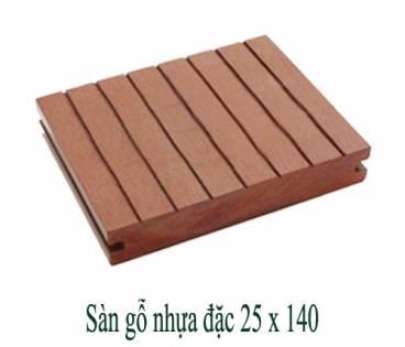 Sàn gỗ nhựa đặc 25x140