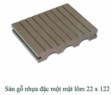 Sàn gỗ nhựa đặc một mặt lõm