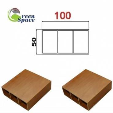 Thanh hộp wpvc 50x100 mm