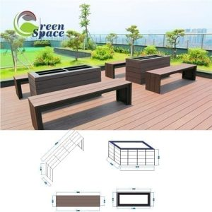 Kích thước bàn ghế gỗ nhựa ngoài trời